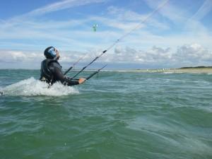 stage kitesurf à Quiberon élève kitesurf débutant