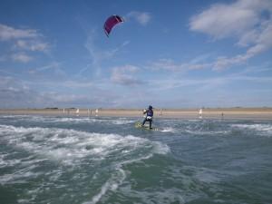 stage kitesurf Quiberon élève débutant ses premiers bords en kitesurf